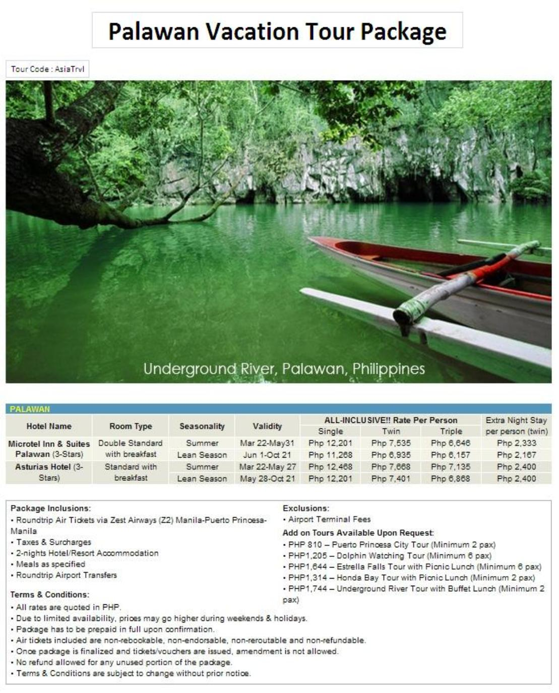 Cheap Palawan Tour Packages
