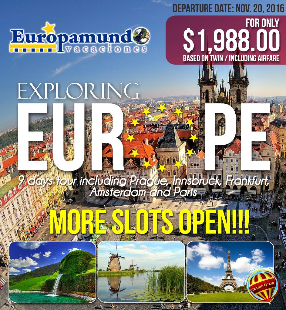 Affordable Europe Tour Packages