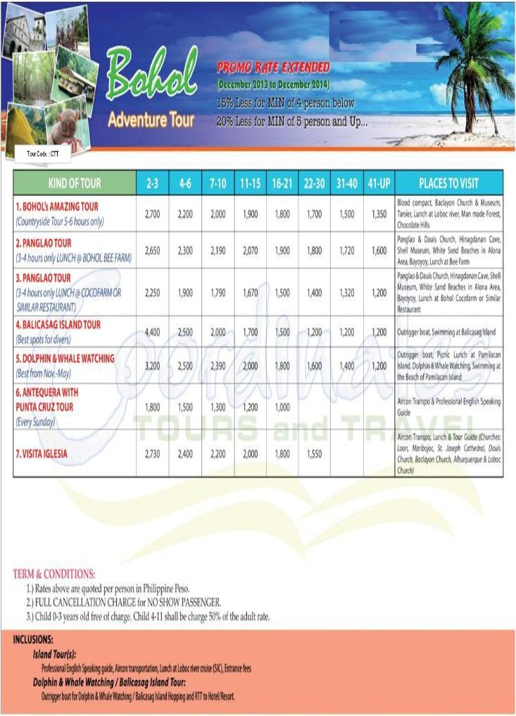 Philippine Airlines Package Tour To Bohol